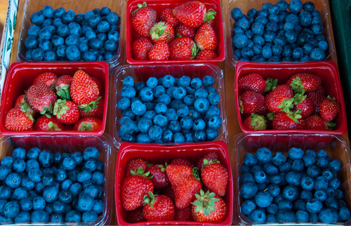 Cape Cod's own Strawberries and Blueberries!